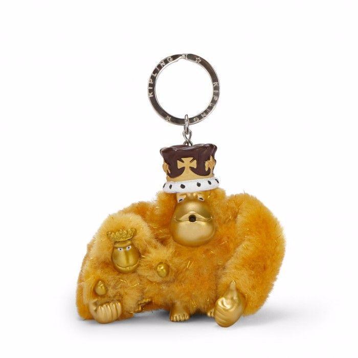 Kipling Charlotte And George Monkey Keyring Keychain