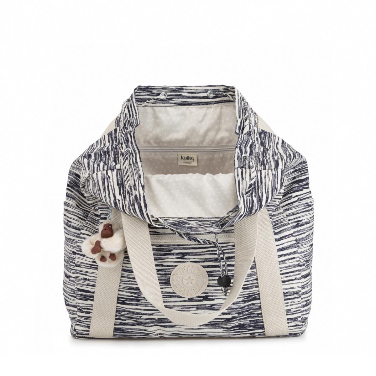Kipling Art Backpack M with Monkey Keychain Scribbles Lines 6e0e6adb1b4d3