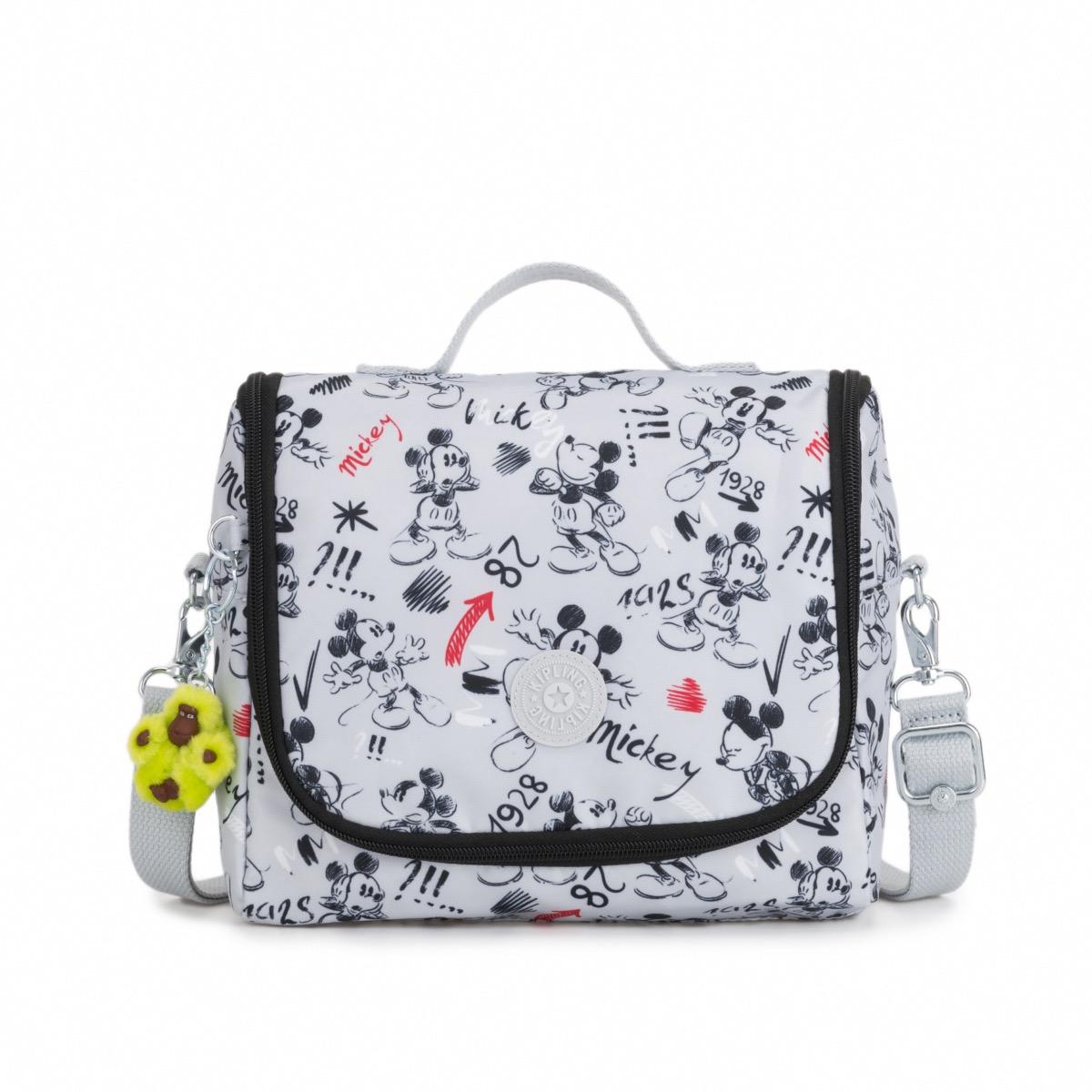 9e1c70f08c6 Kipling Disney D Kichirou Insulated Lunchbag with Monkey Sketch Grey Mickey  Mouse