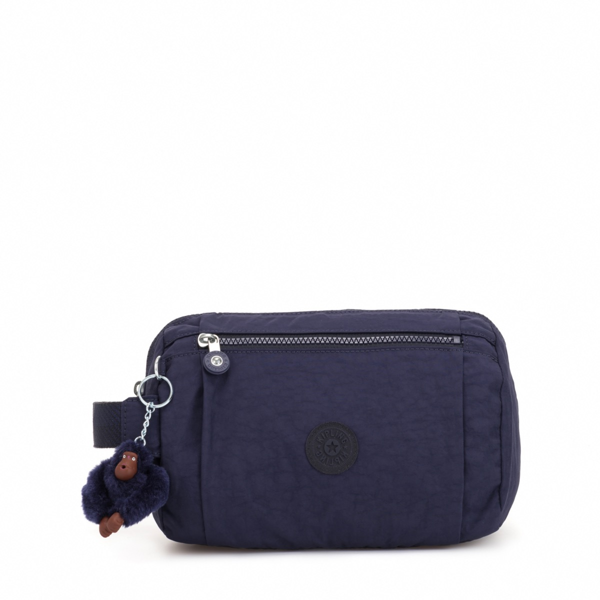 6580e3d7b8 Kipling Aniki Large Travel Pouch with monkey keychain Active Blue